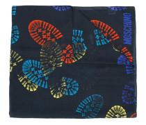 Schal mit Fußabdruck-Prints