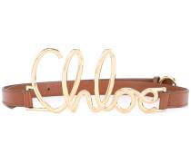 front logo embellished belt