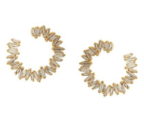 18kt Gelbgoldcreolen mit Diamanten