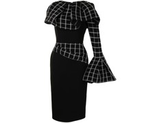 Asymmetrisches Align Kleid