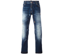 Gerade Jeans im Distressed-Look