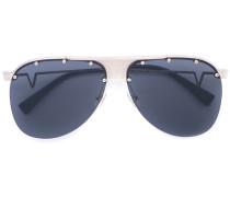 'Runway Pilot' Sonnenbrille - women - Metall
