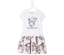 Kleid mit Logo-Print - kids - Baumwolle - 5 J.