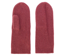 ribbed mittens