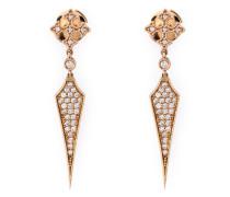 'Passion' Ohrringe aus Rotgold mit Diamanten