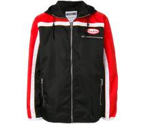 colour block lightweight jacket