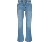 Le Crop Skinny-Bootcut-Jeans