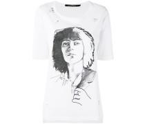 T-Shirt mit Sketch-Print - women - Baumwolle - L