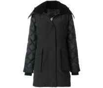 shearling lined hooded coat