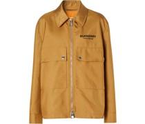 logo print field jacket