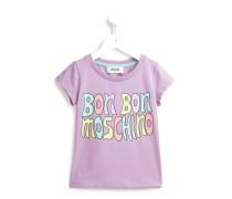 "T-Shirt mit ""Bon Bon Moschino""-Print"