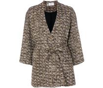 bouclé tweed wrap coat