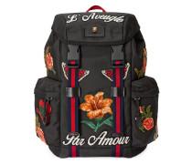 Rucksack mit Blumenstickerei