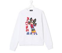 Bulldog print sweatshirt
