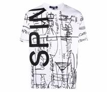 T-Shirt mit Kritzel-Print