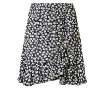 printed ruffle mini skirt