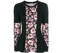 Pullover mit floralem Einsatz