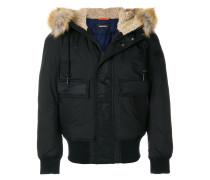 hooded aviator jacket