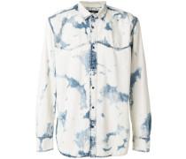 d-planet marbled denim shirt