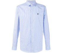 striped star patch shirt
