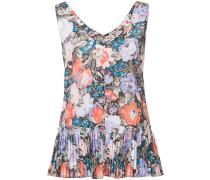 - Florales Top mit plissiertem Saum - women