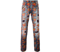 Jeans mit Superman-Prints