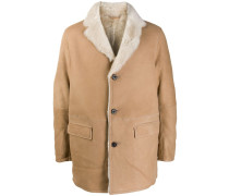 Mantel mit Shearling-Futter