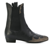 Western panelled ankle boots