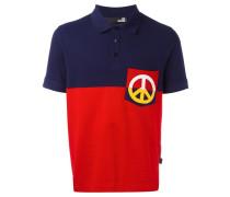 Poloshirt mit Friedenszeichen-Patch