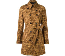 all-over print trench coat