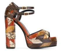 'Star Patch' Sandalen aus Schlangenleder