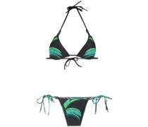 tropical print bikini set