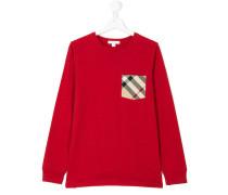 Pullover mit Karo-Brusttasche