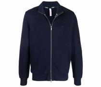 zip-up cotton sweatshirt