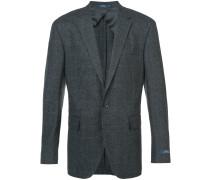 plaid fitted blazer