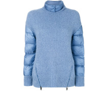padded sleeve knitted jumper