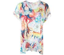 T-Shirt mit Blumen-Print