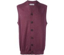 sleeveless v-neck cardigan