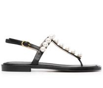 Goldie Sandalen mit Perlen 15mm