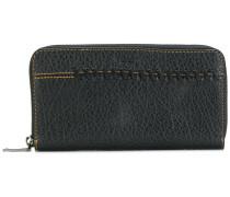 Stitched zip around wallet