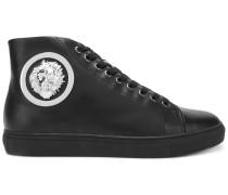 Klassische High-Top-Sneakers mit Löwen-Verzierung