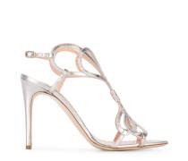 - Sandalen mit Metallic-Effekt - women - Leder
