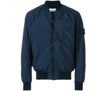 garment dyed crinkle reps NY bomber jacket