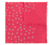 star embroidered scarf