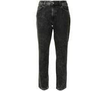 Cropped-Jeans mit hohem Bund