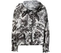 Jacke mit botanischem Print