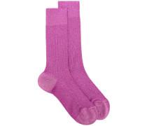 Socken mit kontrastierenden Einsätzen