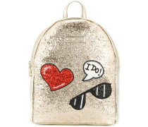 glitter patch backpack