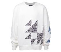 Sweatshirt mit geblümten Patches