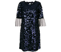 tulle cuff sequin mini dress